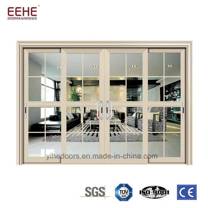 China Professional Powder Coated Aluminum Patio Sliding Doors For