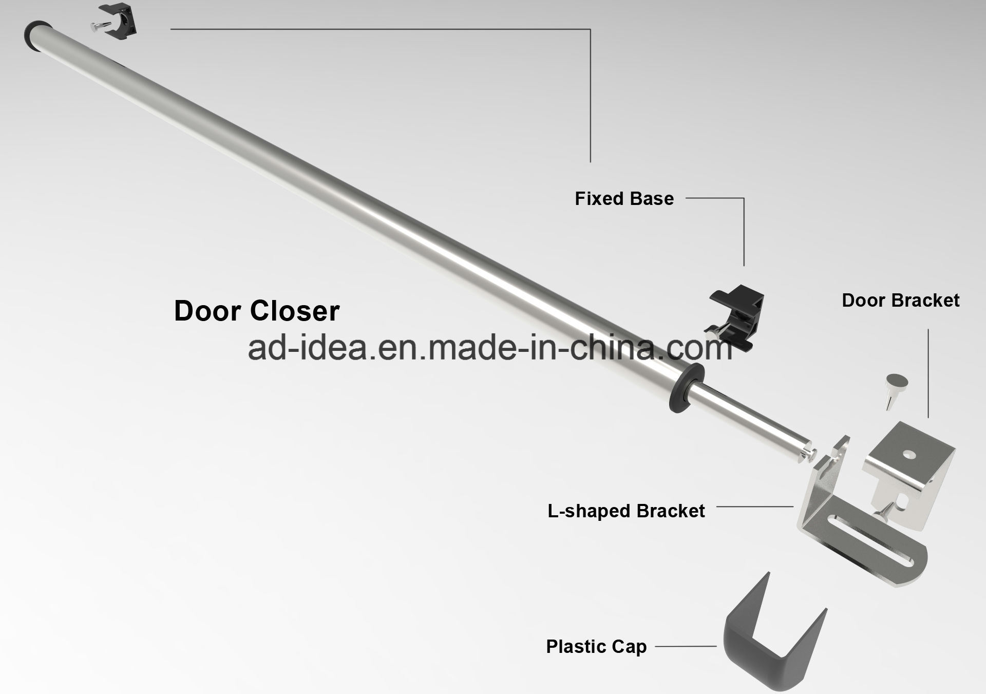 China 38inch Self Closing Diy Air Pressure Sliding Door Closer With