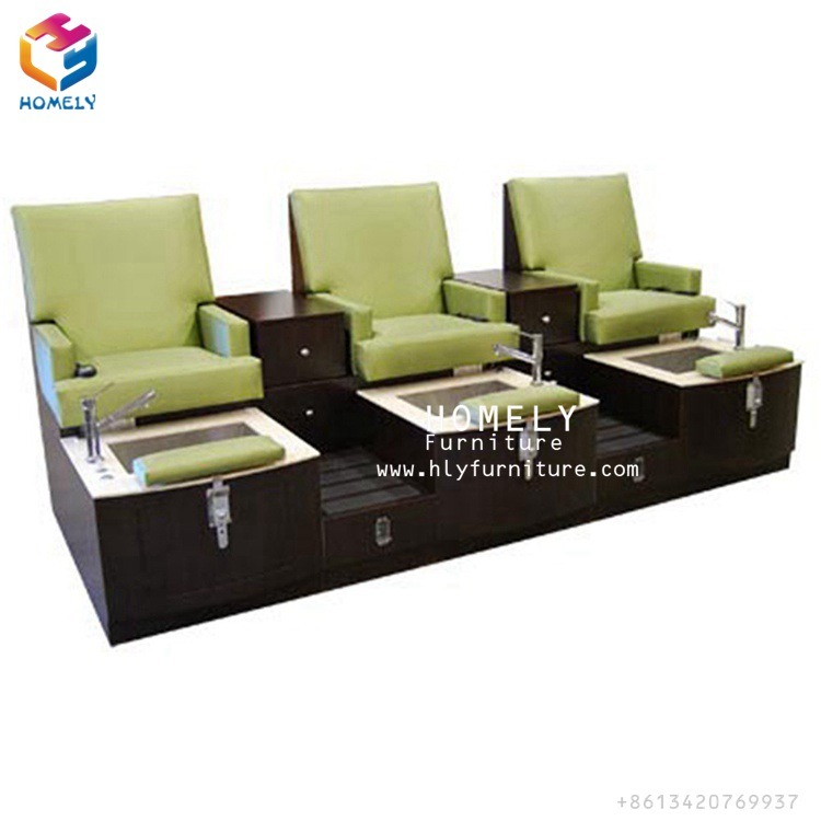 Superior Pedicure Bench Part - 10: China Foshan Cheap Three-Seater Salon SPA Pedicure Bench With Foot Manicure  - China Chair, Pedicure Chair