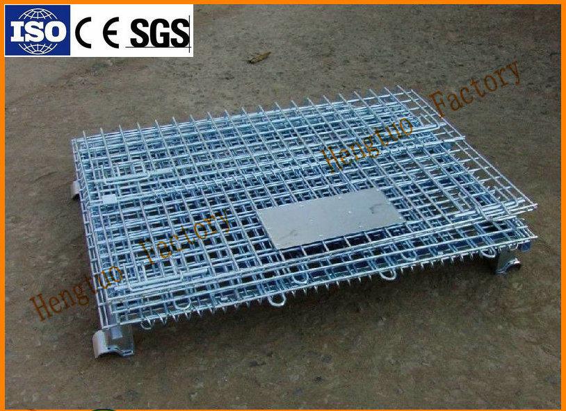 China Warehouse Storage Steel Wire Mesh Pallet Bin with Wheels ...
