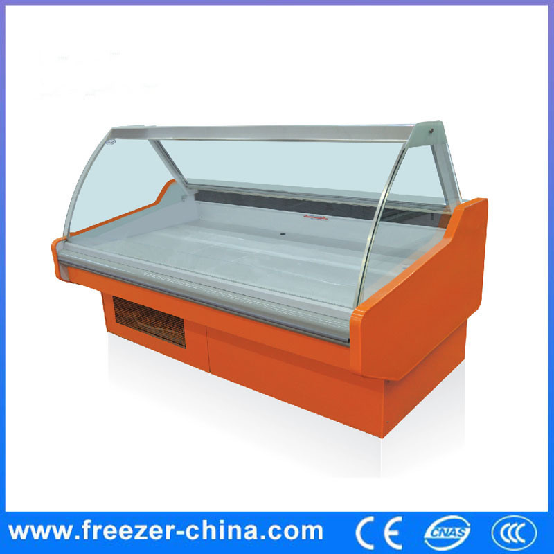 Commercial Supermarket Hot Food Display Refrigerator Showcase
