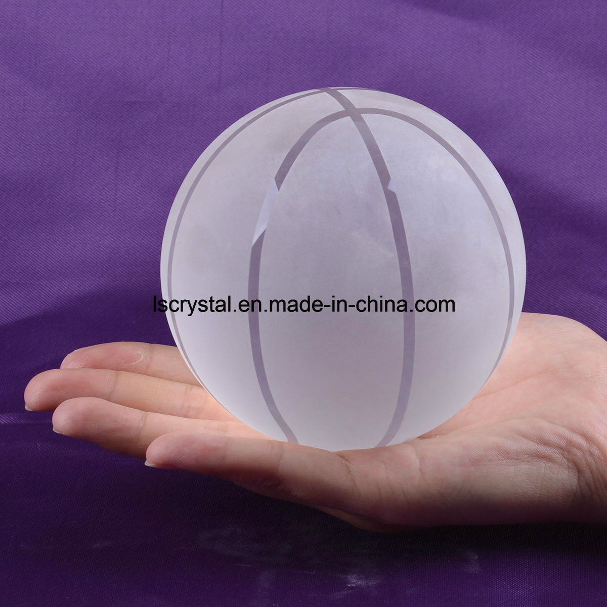 100mm Crystal Clear Glass Basketball for Souvenir Ball