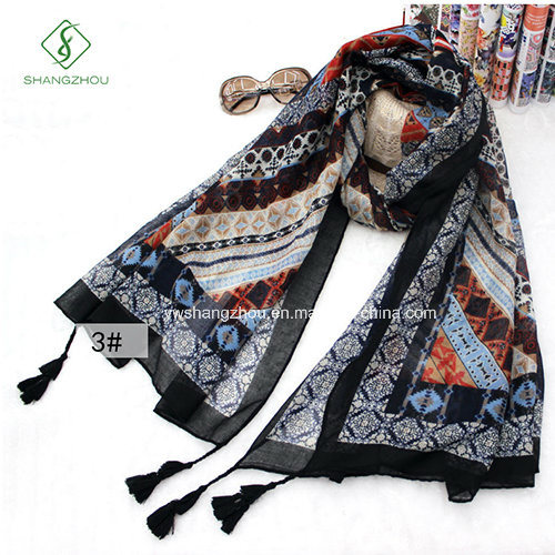 Fashion Lady Scarf Nepal Style with Tassels Beach Shawl pictures & photos