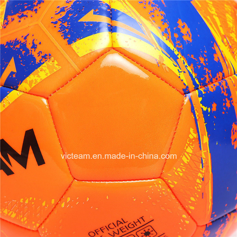Entry Level Good Stitched Orange PVC Foam Football pictures & photos