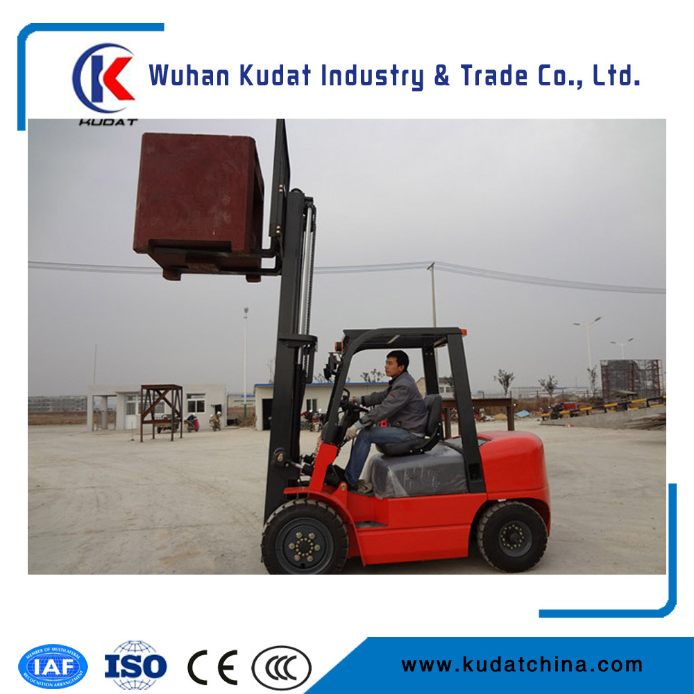 China Ce Certificate All Terrain 2 Ton Battery Forklift Truck