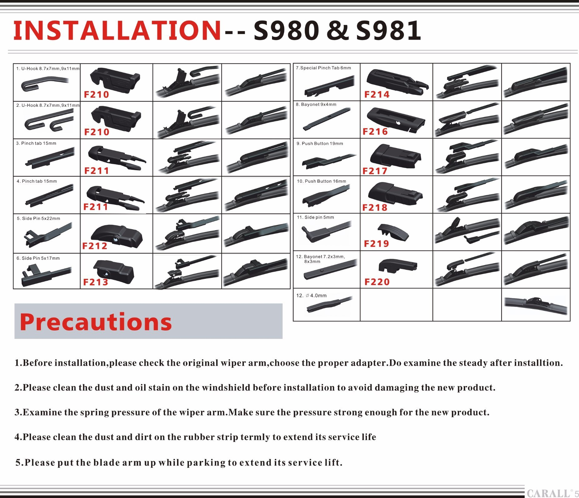 Car Accessories of Multifunctional Wiper Blade (S980) pictures & photos