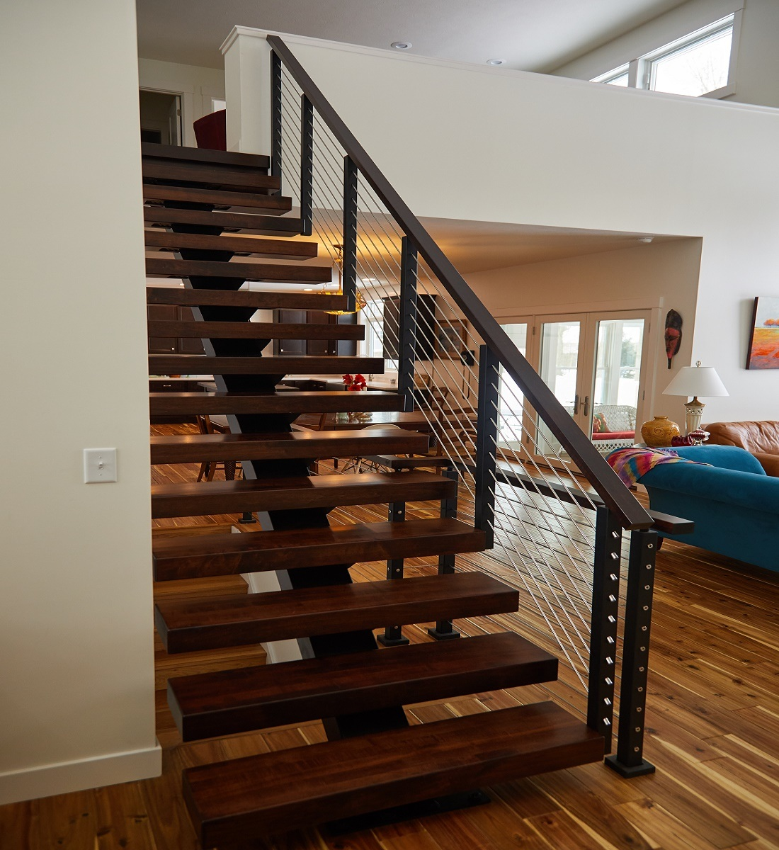 China Simple Indoor Steel Stair Mono Stringer Straight ...