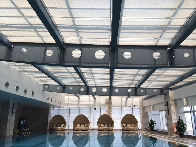 5 Stars Hotel Indoor Swimming Pool Window Roller Shutter Blinds