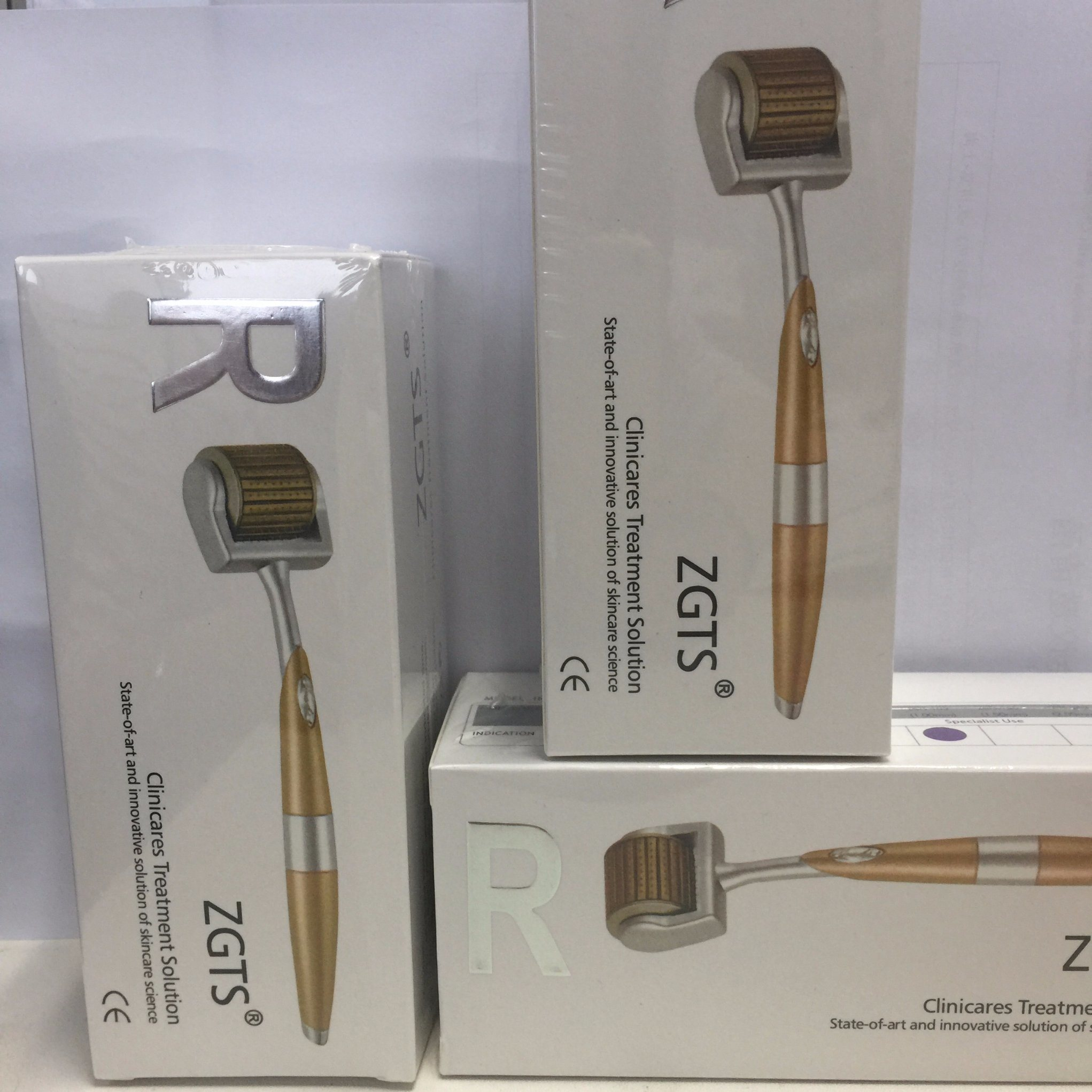 China Amazon Best Seller 192 Titanium Microneedle Roller System Dermaroller Zgts Derma With Excellent Quality Portable