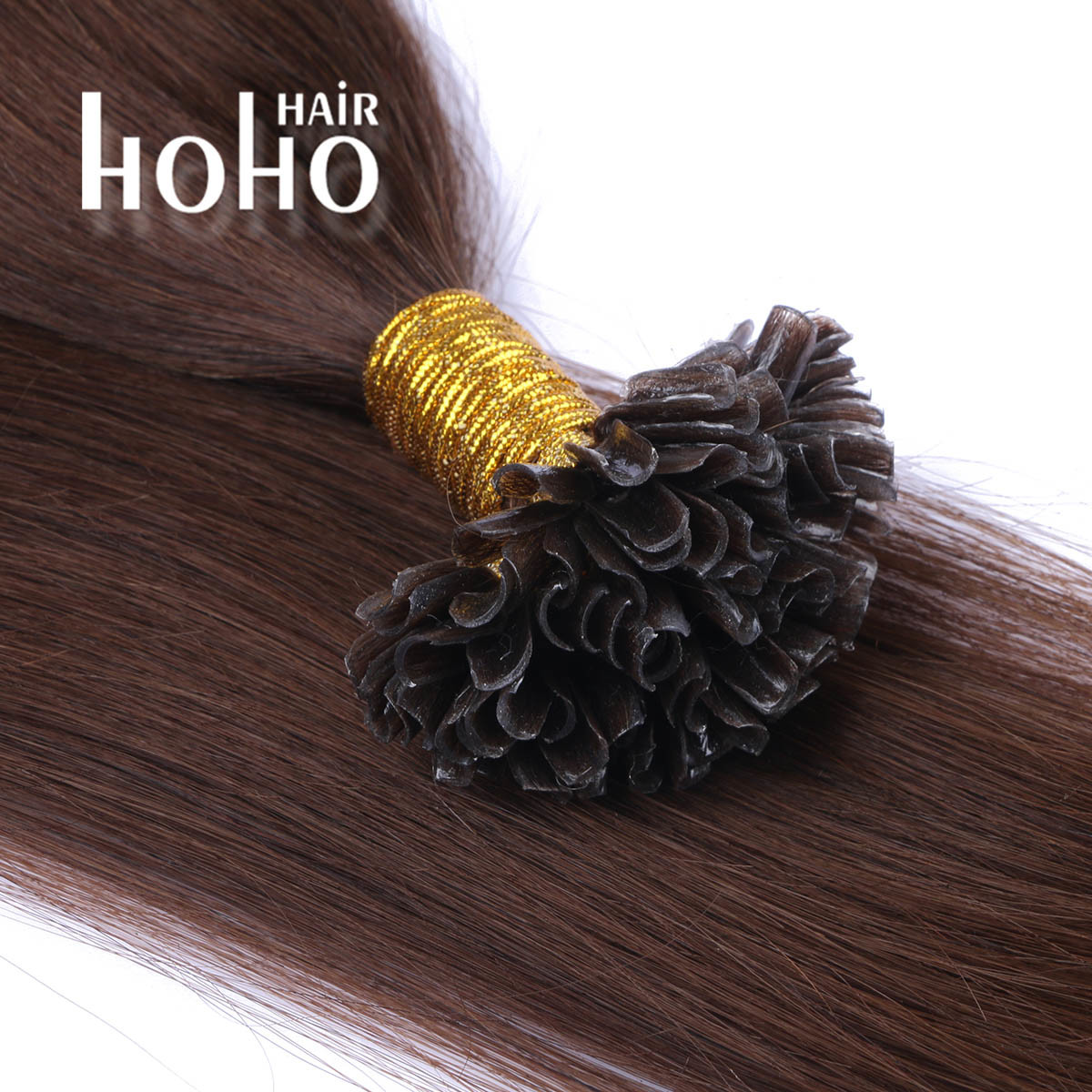 China Brown 12 Inch Russian Nano Ring Wholesale Hair Extension