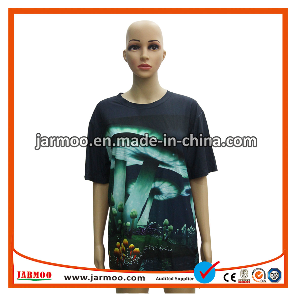 China Unisex Custom Top Wholesale All Over Dye Sublimation Printing