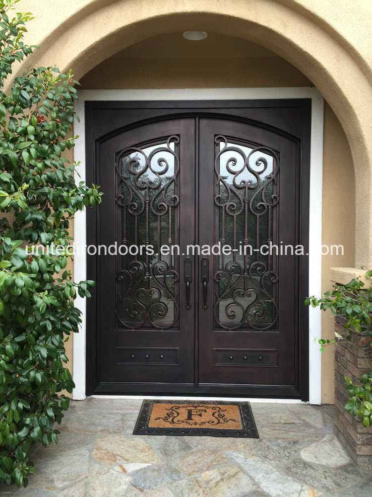 Segmented Arched Double Entry Door
