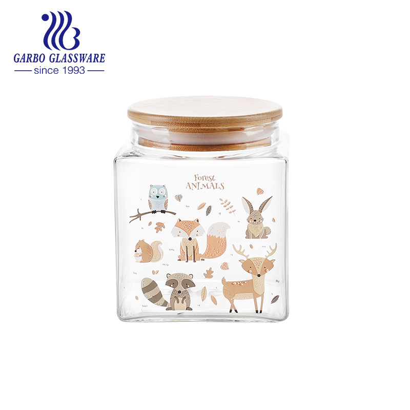 Decorative Clear Glass Jars With Lids  from image.made-in-china.com