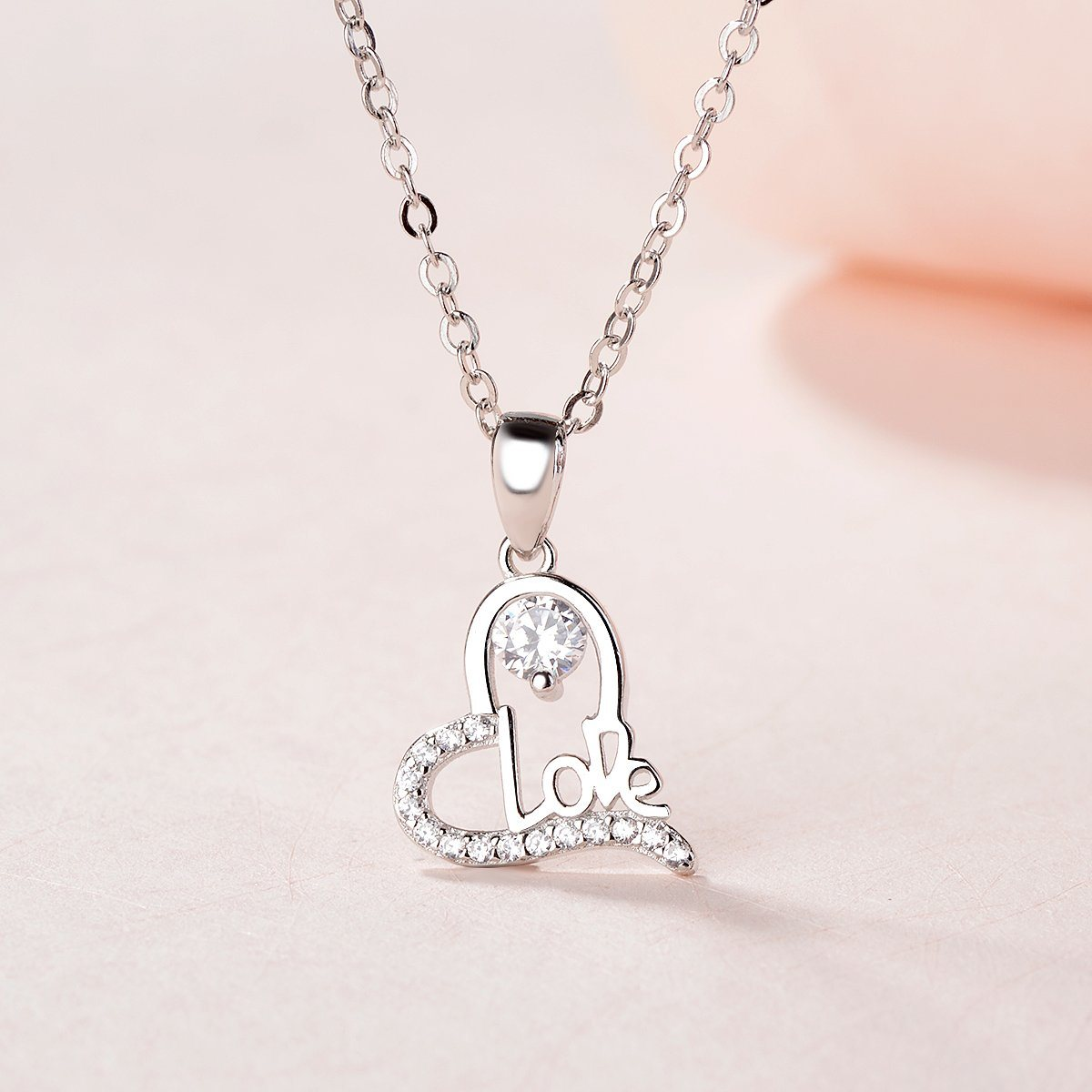 China 925 Sterling Silver Heart Love Pendant Jewelry China 925