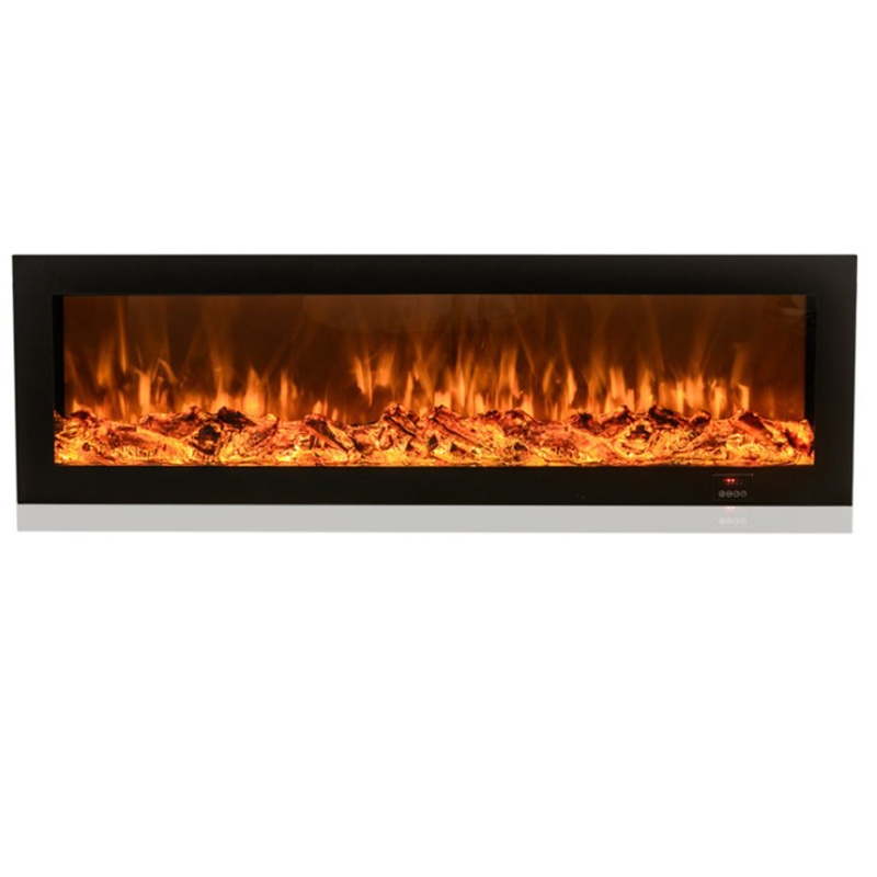 [Hot Item] 12D Tempered Glass Freestanding Decor Flame Electric Fireplace  Electric Heater