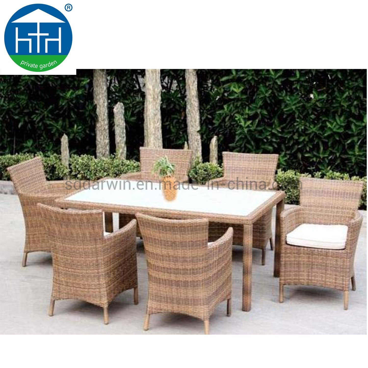 China High Quality Wicker Outdoor Furniture Set Dining Table And Chair Garden Patio Setting Photos Pictures Made In China Com