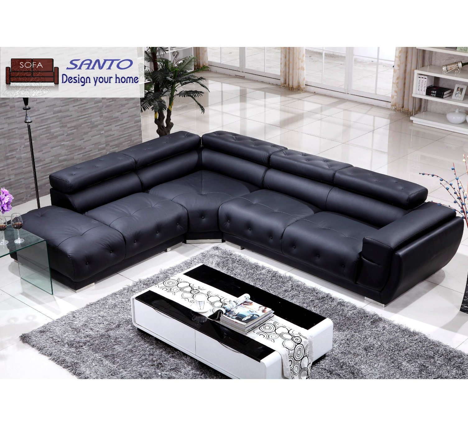 China 2020 Latest Design Sectional Leather Modern Corner