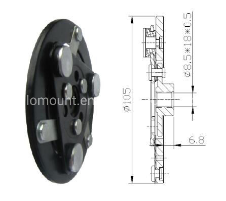 [Hot Item] Sanden Trsa09 Auto AC Parts Automotive AC Clutch Hub