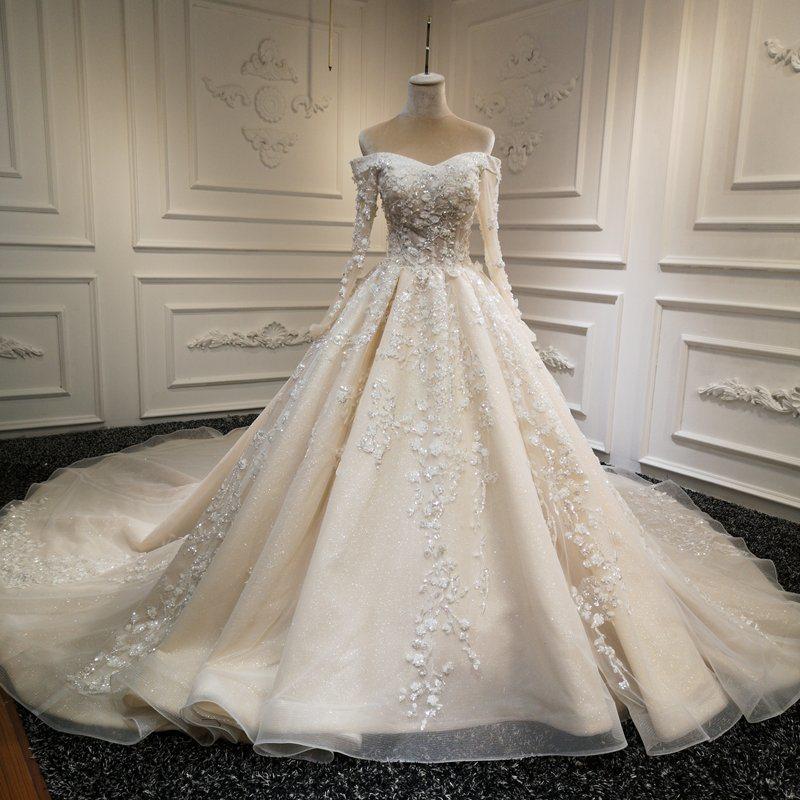 China Sweetheart Bridal Ball Gowns Long Sleeves Lace Shinny Wedding Dresses Z8007 China Wedding Dress And Bridal Dress Price,Long Sleeve Wedding Dresses Toronto