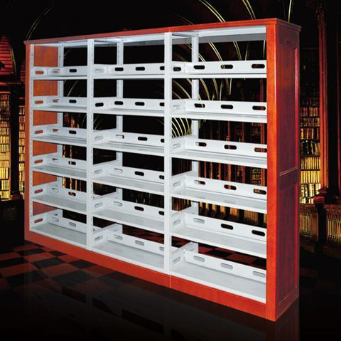 library furniture double column factory direct sale steel bookshelves - Steel Bookshelves
