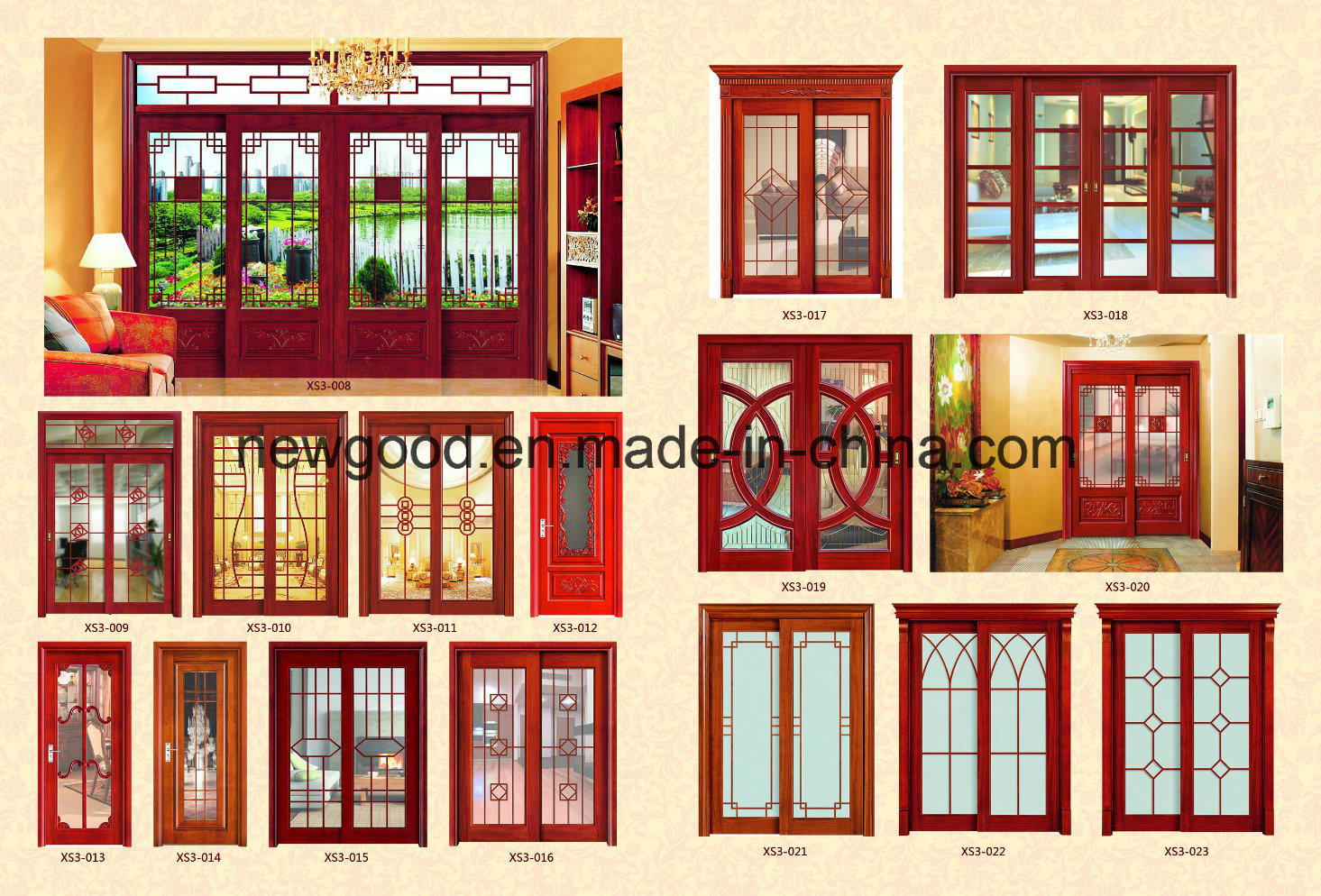 China Sliding Glass Door Wood Frame Or Aluminium Frame Photos