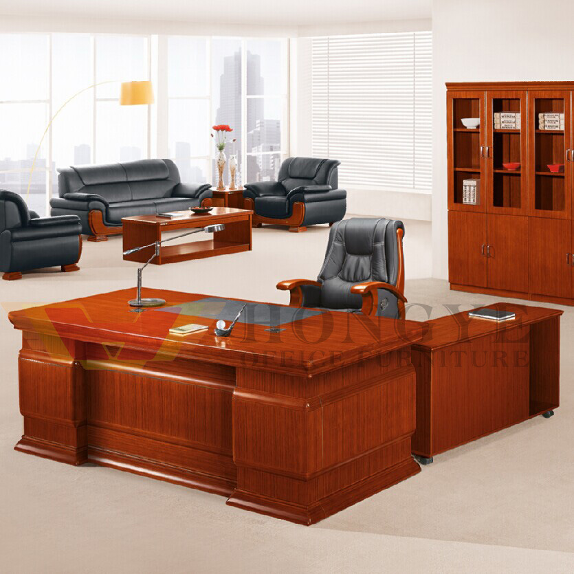Chinese Style Design Top Grade L Shaped Office Executive Desk For Furniture China Venner Shape Manager