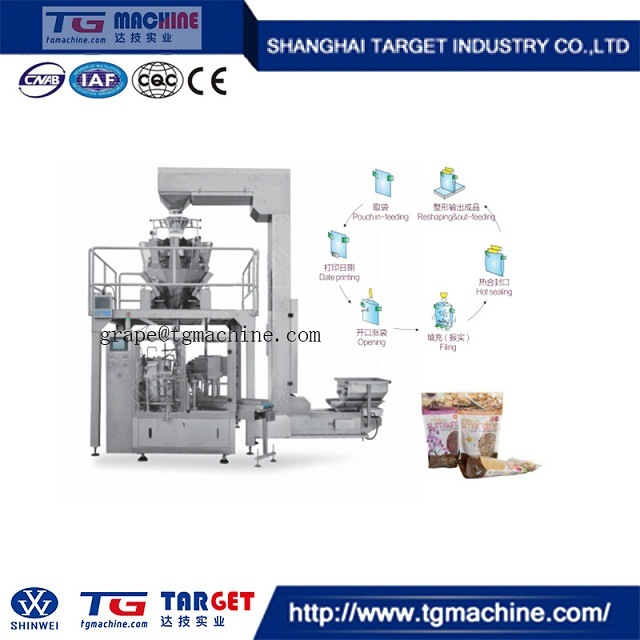 Unique Manufacture 6 Station Premade Bag Granule Packing Machine