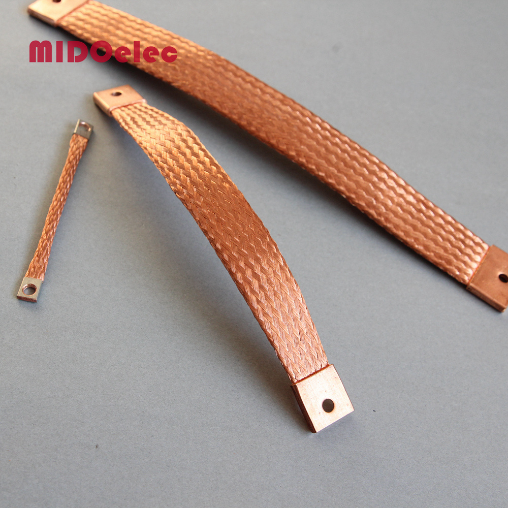 China High Quality Copper Flexible Jumper Braided Connector - China ...