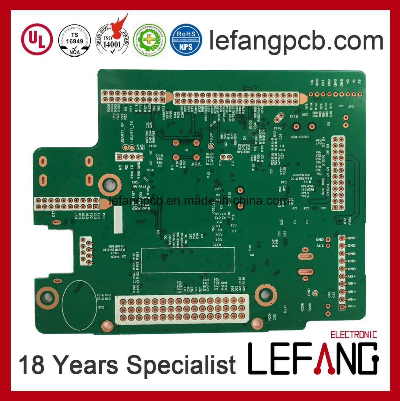 China Multylayer 4l Entertainment Systems Circuit Board High Frequency Circuits Pcb