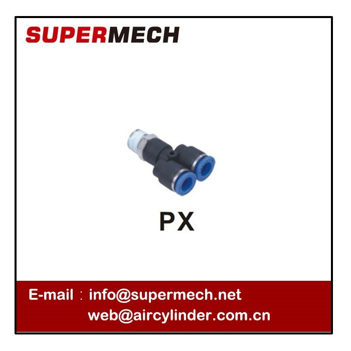 Px Series Pneumatic Plastic Body Brass Thread Pipe Fitting