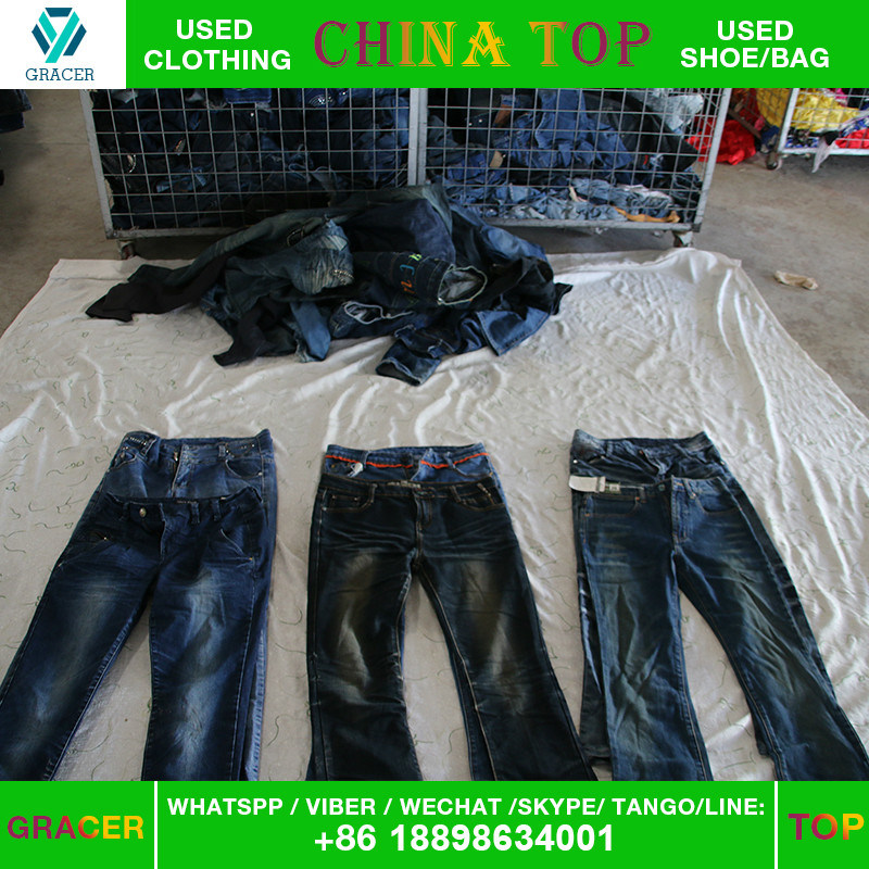 Dubai Style Door to Door Used Jeans Used Clothing Export