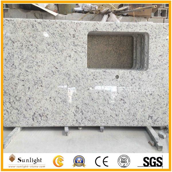 Prefab Granite Brazillian White Rose Granite Bathroom And Kitchen  Countertops