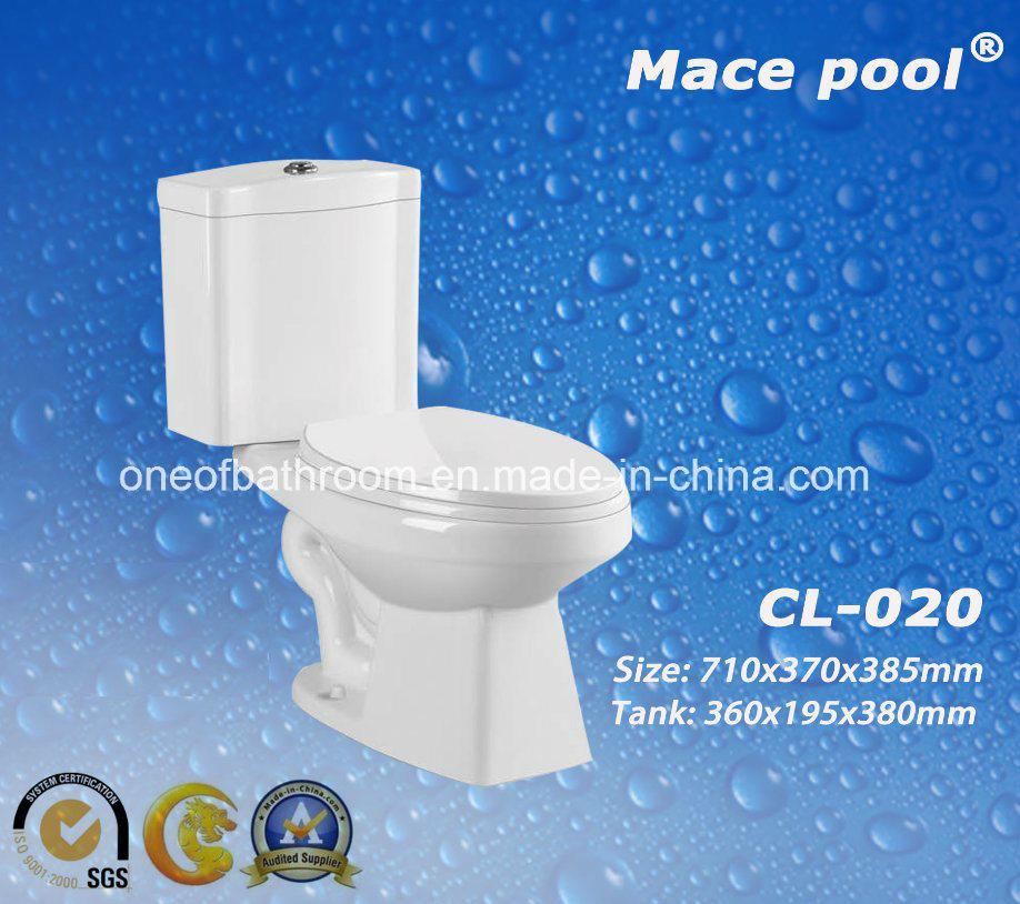 China Bathroom Sanitary Ware Two-Piece Toilets Ceramic Water Closet ...