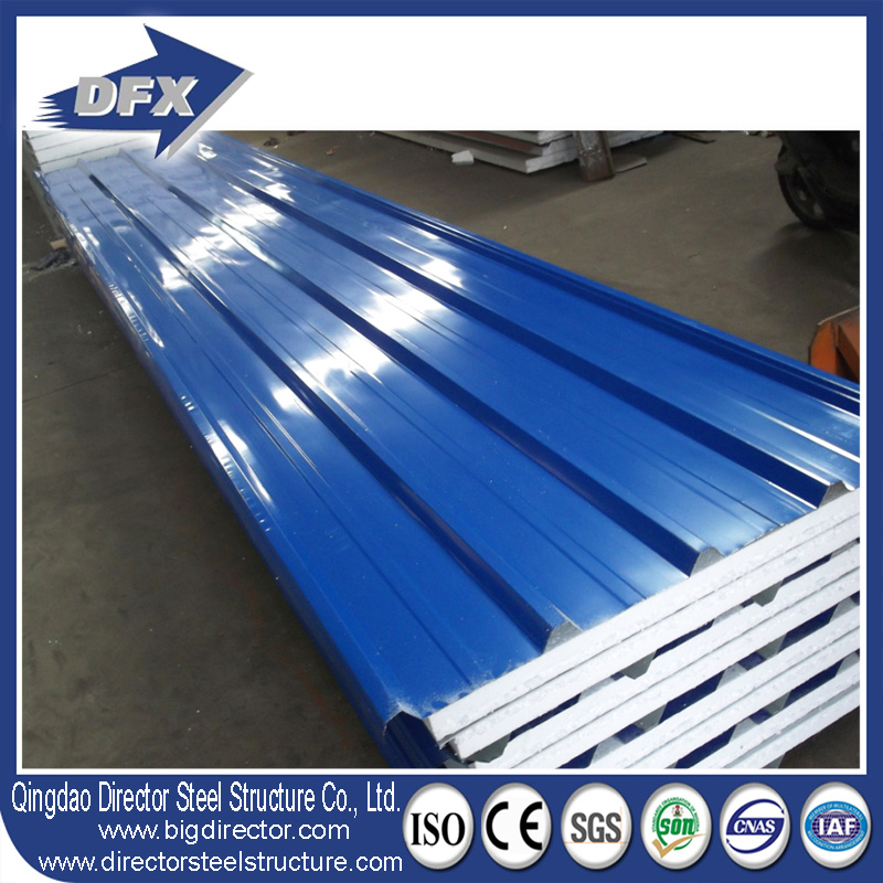 Wall Roof Aluminium Steel EPS/PU/Fiberglass/Rockwool Sandwich Panel pictures & photos