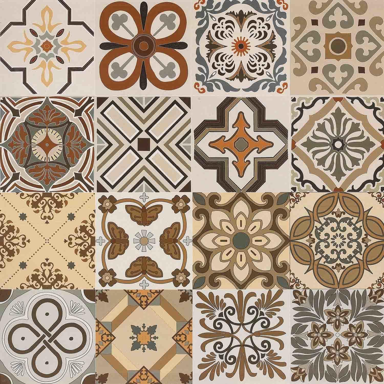 Special Design Ceramic Tile Building Material Art Decoration Wall For Apartment Home Spain Style 600x600mm Matt Parquet No Slip