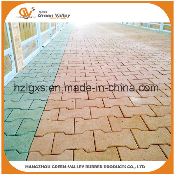 China Dog Bone Shaped Puzzle Rubber Floor Tiles For Walkway China
