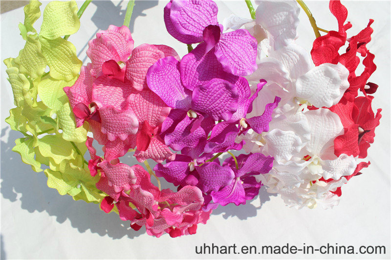 Factory Direct Natural Looking Artificial Orchid Flowers for Decoration