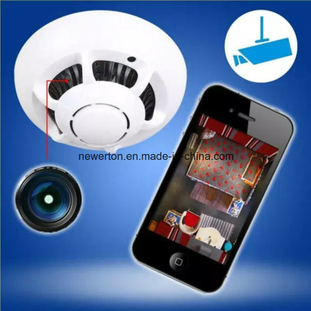 Mini UFO WiFi Camera 720p 90 Degree Angle Lens CMOS Hidden Smoke Detector WiFi Camera pictures & photos