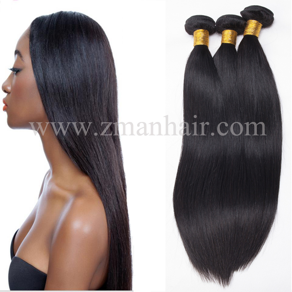 China Use Friendly Real Human Hair Weave In Silk Straight Texture