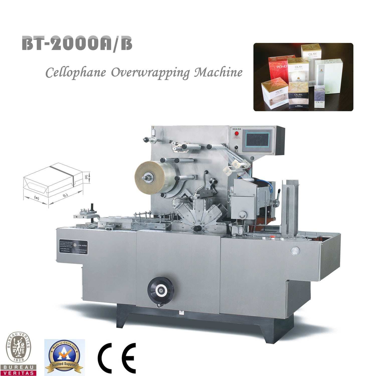 Bt-2000A/B Cellophane 3D Overwrapping Machine