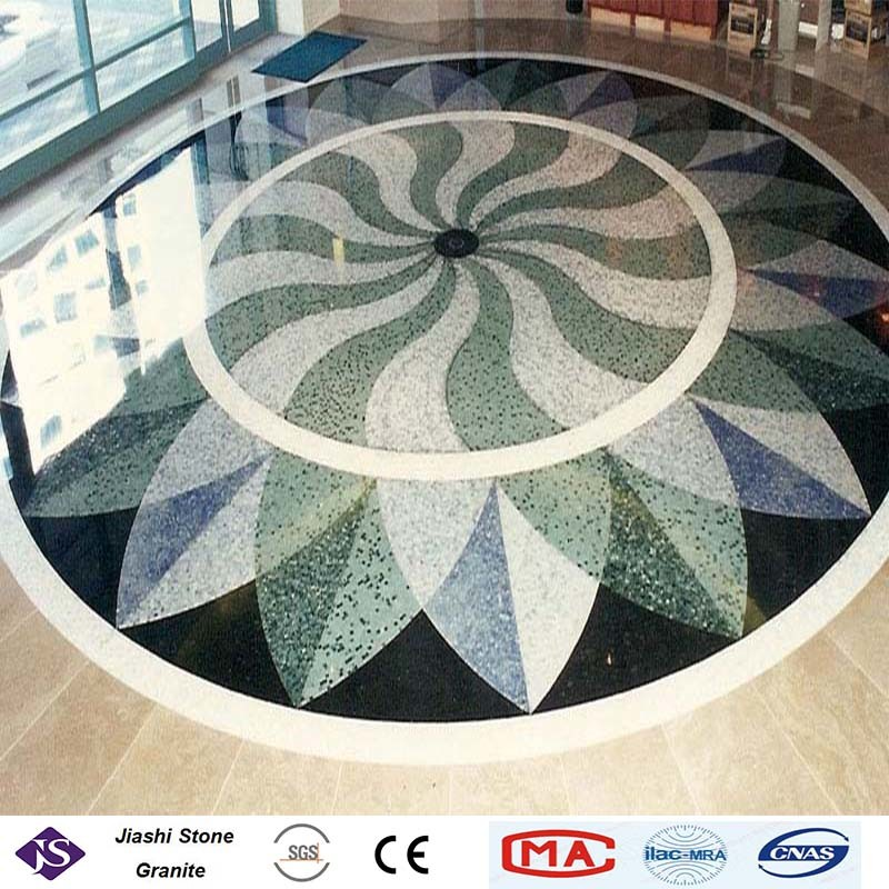 China Double Layers Terrazzo Floor Tiles With Small Stone Grains