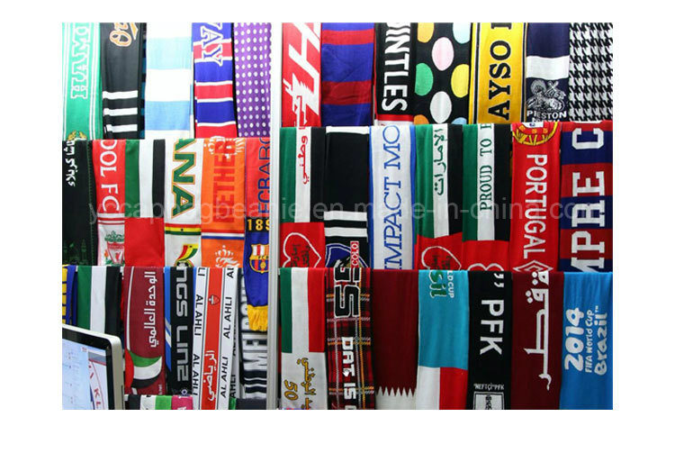 100%Acrylic Winter Knitted Scarf, Football Scarf pictures & photos