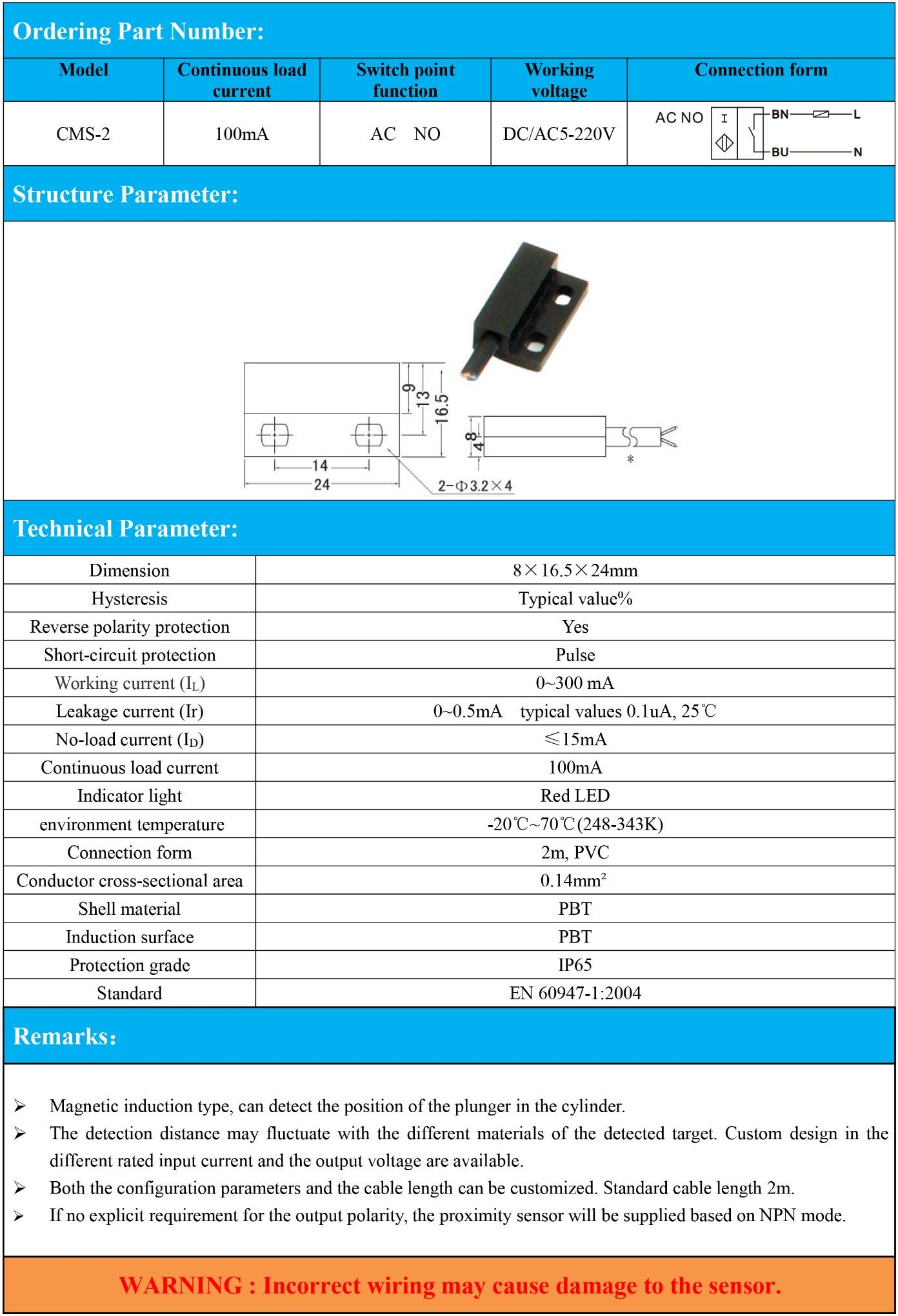 China Magnetic Proximity Sensor Switches AC No DC/AC 5-220V Photos ...