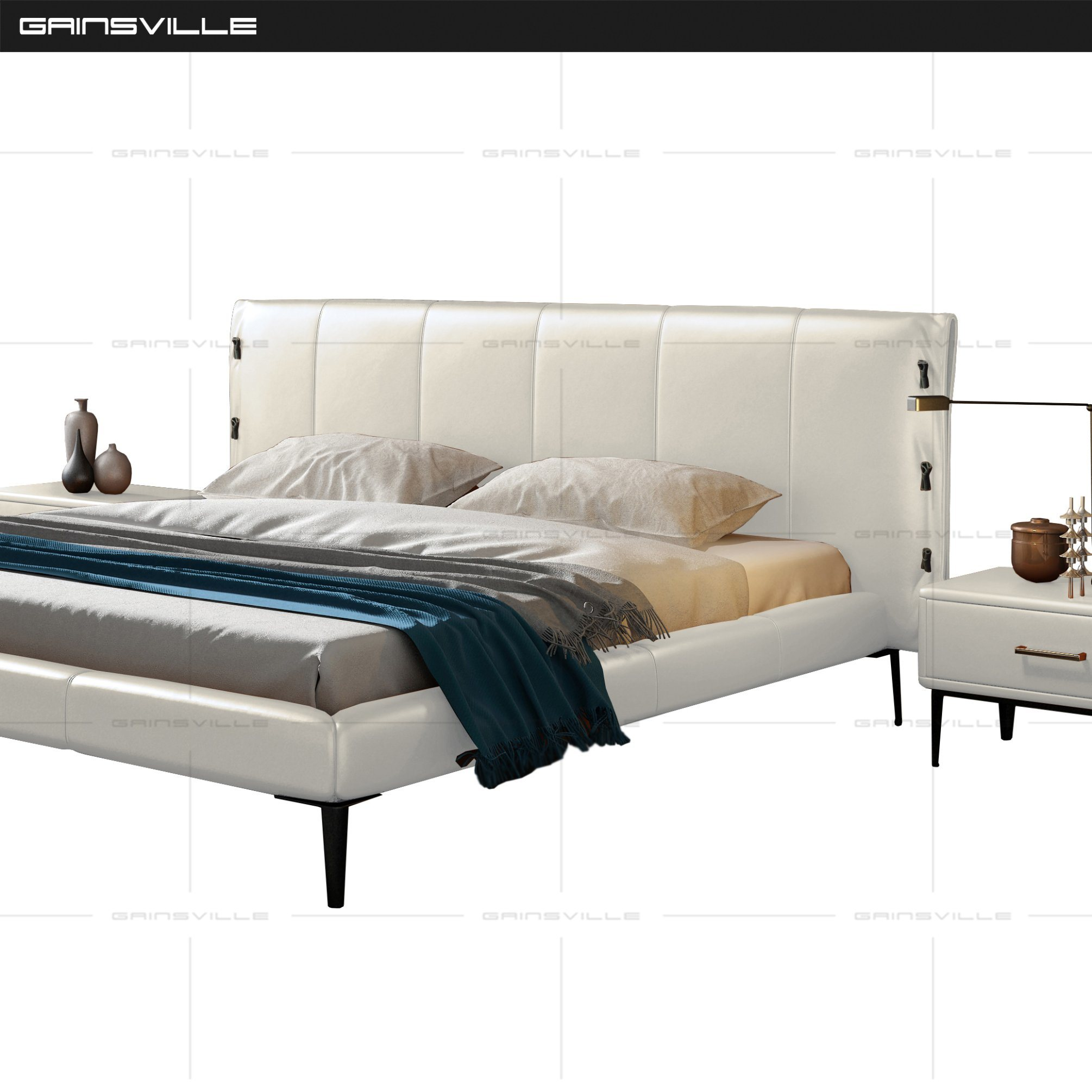 Picture of: China Modern Luxury Contemporary Bedroom Furniture Leather Beds Gc1727 China Bedroom Sets Foshan Factory Furniture