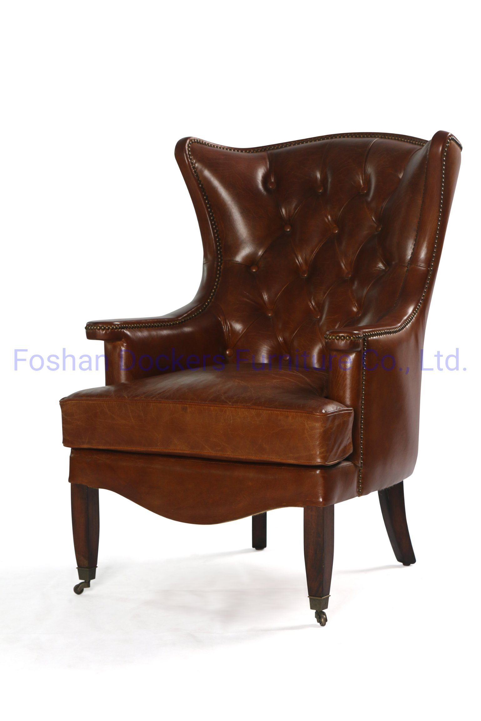 [Hot Item] High Quality Modern Living Room Furniture Single Seater Vintage Genuine Leather Luxury Wholesale Set Chinese Italy Dining Sofa