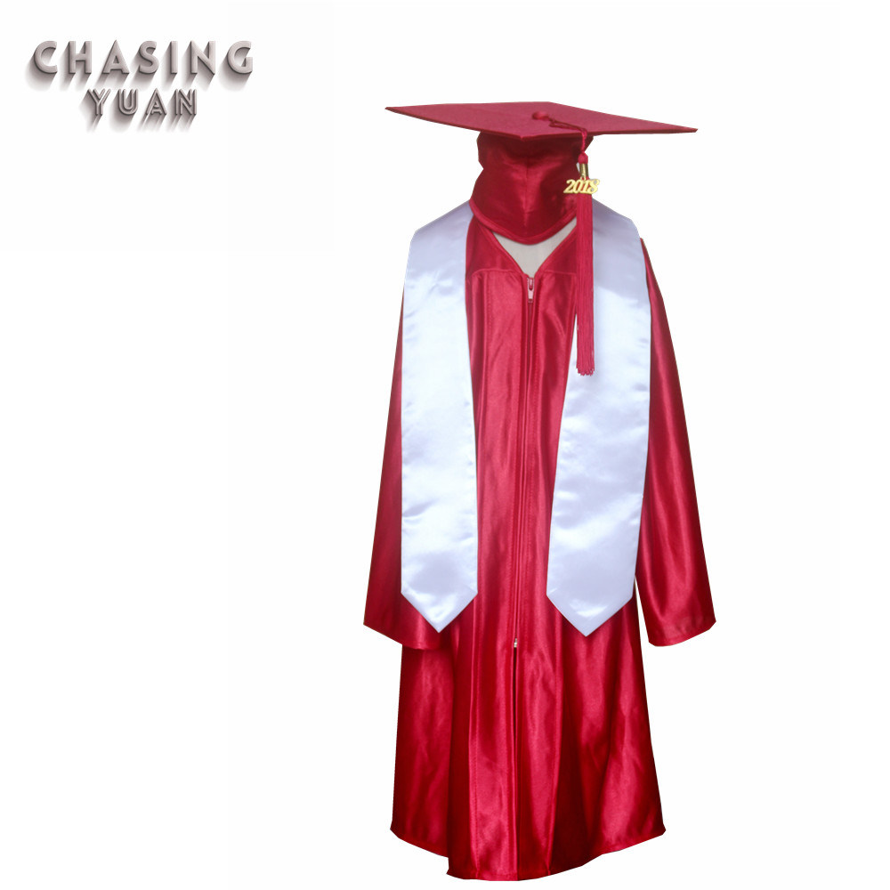 66b4dd78a79 China Disposable Children Shiny Red Cap Sash Gown for Graduation - China  Graduation Cap Gown