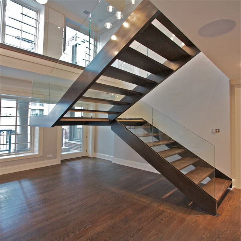 Modern Interior Staircase Materials Photo: China Modern Design Interior Steel Straight Staircase For
