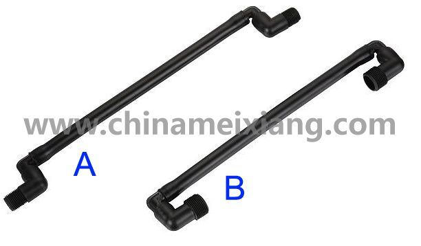 Garden Irrigation Swing Joint 1/2′′, 3/4′′ Bsp PE Swing Joints (MX9208)