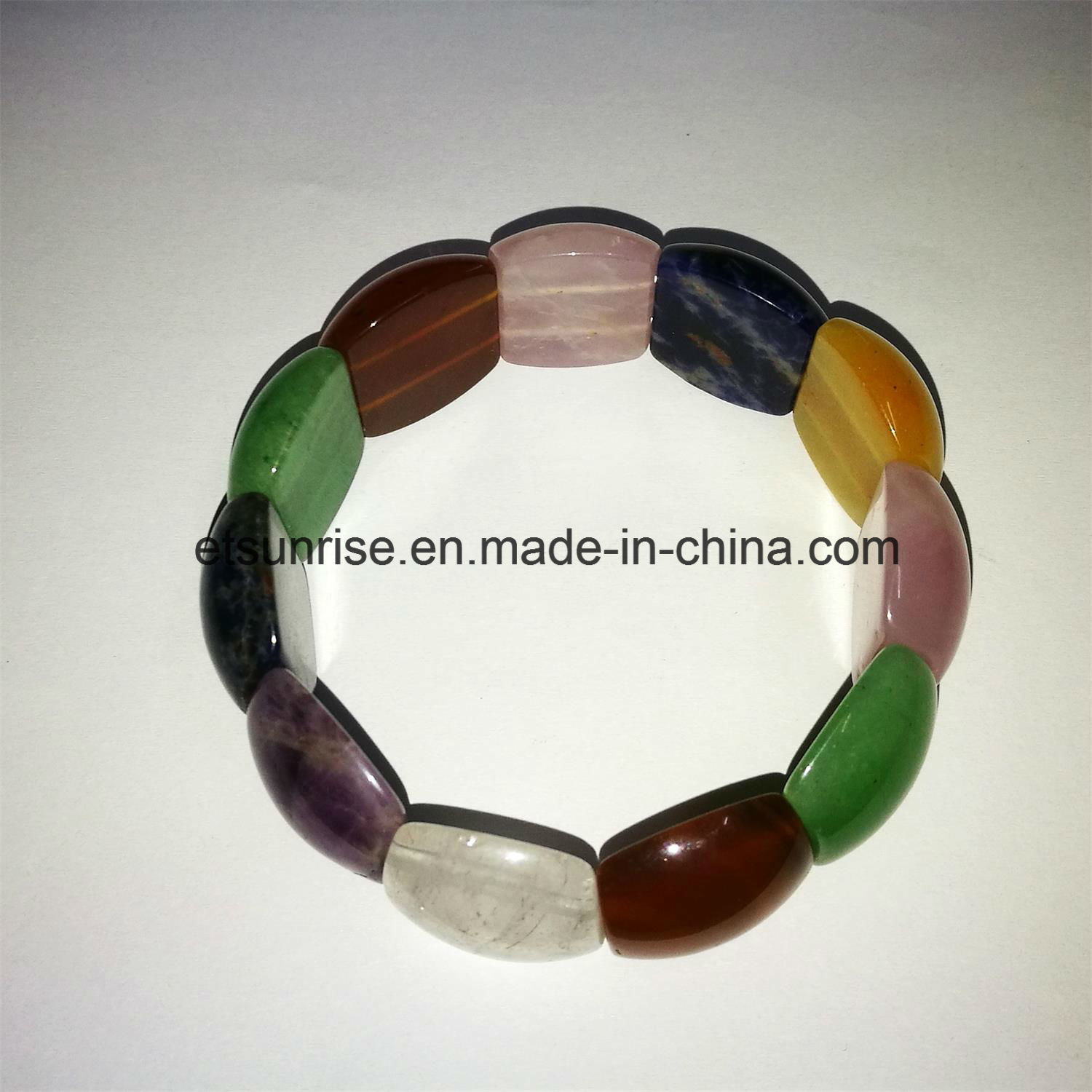 Semi Precious Stone Mix Color Natural Crystal Amethyst Beaded Bracelet