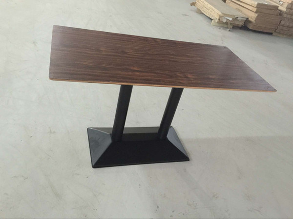 China Classic Walnut Color Food Court Dining Table FOHCXSC - Walnut color dining table